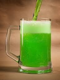 Download Green St Patricks Day Beer On Craft Stock Photo