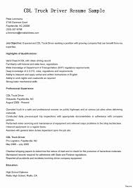 Courier Driver Resume Sample Lovable Truck Driver Resume No ...