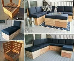 20 Outdoor Pallet Furniture DIY Ideas And Tutorials Modular Sectional Corner Lounge