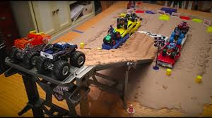 100 Hot Wheels Monster Truck Track Jam Tabletop Downhill To Amazing Freestyle YouTube