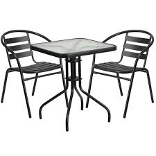23.5'' Square Glass Metal Table With 2 Metal Aluminum Slat Stack Chairs:  Black Jack Daniels Whiskey Barrel Table With 4 Stave Chairs And Metal Footrest Ask For Freight Quote Goplus 5 Pcs Black Ding Room Set Modern Wooden Steel Frame Home Kitchen Fniture Hw54791 30 Round Silver Inoutdoor Cafe 0075modern White High Gloss 2 Outdoor Table Chairs Metal Cafe Two Stock Photo 70199 Alamy Stainless 6 Arctic I Crosley Kaplan 4piece Patio Seating Oatmeal Cushion Loveseat 2chairs Coffee Rustic And Pieces Glass Tabletop Diy Patterns Pads Brown Tufted Target Grey