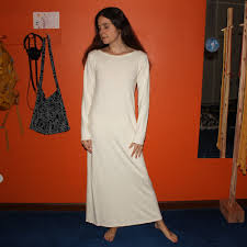 long sleeve organic hemp nightgown dress 100 hemp and