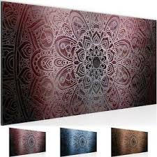 details zu wandbild modern wohnzimmer mandala violett lila schlafzimmer deko bilder