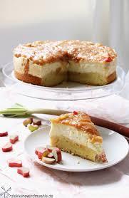 pudding torte mit rhabarberkompott die kleine windmuehle