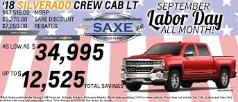 Matt Saxe Chevrolet Buick In Belle Plaine | New Prague And Le Sueur ... Chevy Truck Rebates Mulfunction For Several Purposes Wsonville Chevrolet A Portland Salem And Vancouver Wa Ferman New Used Tampa Dealer Near Brandon 2019 Ram 1500 Vs Silverado Sierra Gmc Pickup 2018 Colorado Deals Quirk Manchester Nh Phoenix Specials Gndale Scottsdale Az L Courtesy Rick Hendrick In Duluth Near Atlanta Munday Houston Car Dealership Me On Trucks Best Of Pre Owned Models High