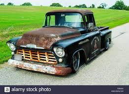 1956 Chevrolet Custom Rat Rod Pickup Truck Stock Photo: 87413322 - Alamy