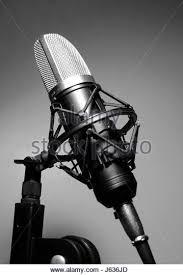 Music Studio Audio Microphone Recording Bw Black Swarthy Jetblack Deep
