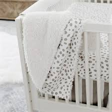 minky flannel or faux fur blanket gray dalmatian spots