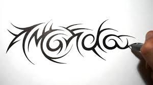 Tribal Name Tattoos