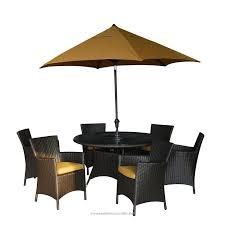 BuildDirect Patio Furniture The Ritz Sunbrella Series Dining Set