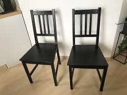 esszimmerstuhl küchenstuhl holz schwarz ikea modell stefan