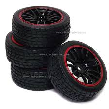 RC Car Wheel Set 14 Spoke Rims & Road Tyres 4P Black/Red 1:10 Scale Tireswheels Cars Trucks Hobbytown 110th Onroad Rc Car Rims Racing Grip Tire Sets 2pcs Yellow 12v Ride On Kids Remote Control Electric Battery Power 4 Pcs 110 Tires And Wheels 12mm Hex Rc Rally Off Road Louise Scuphill Short Course Truck How To Rit Dye Or Parts Club Youtube Scale 22 Alinum With Rock For Team Losi 22sct Review Driver Best Choice Products 112 24ghz R Mad Max 8 Spoke Giant Monster Tyres Set Black Mud Slingers Size 40 Series 38 Adventures Gmade Air Filled Widow Custom