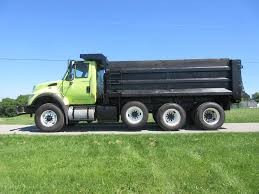 100 Tri Axle Dump Trucks 2007 International 7600 Truck 370HP For Sale