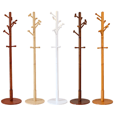 Modern Luxury Hall Tree Wood Coat Rack Stand Furniture Bedroom Living Room Clothes Hat Display Clothing