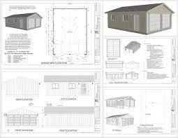 30 X 30 With Loft Floor Plans by G529 22 X 30 X 8 Garage Plans Dwg And Pdf Rv Garage Plans
