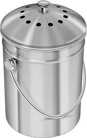 utopia kitchen 5 liter kompostbehälter kompostbehälter aus edelstahl für küchenarbeitsplatten kompostbehälter kücheneimer kompost mit deckel