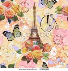 Seamless Paris Travel WallpaperVintage Background