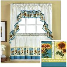 Amazon Rooster Kitchen Curtains by Sunflower Kitchen Curtains Wer Kitchen Medium Image For Ergonomic