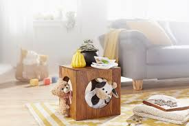 finebuy beistelltisch massivholz sheesham 35 x 35 cm cube wohnzimmer tisch design landhaus stil couchtisch quadratisch modern holztisch natur produkt