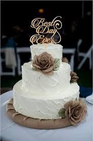 Best Day Ever Wedding Cake Topper Monogram Rustic Decor