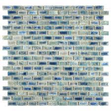 Home Depot Merola Hex Tile by Merola Tile Rustica Subway Neptune Blue 11 3 4 In X 11 3 4 In X