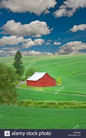 Red Barn And Rolling Hills Of Wheat. The Palouse Near Pullman ... Red Barn Washington Landscape Pictures Pinterest Barns Original Boeing Airplane Company Building Museum The The Manufacturing Plant Exterior Of A Red Barn In Palouse Farmland Spring Uniontown Ewan Area Usa Stock Photo Royalty And White Fence State Seattle Flight Interior Hip Roof Rural Pasture Land White Fence On Olympic Pensinula