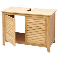 b ware holzschaden sk1 waschbeckenunterschrank hwc b18 badezimmer badschrank bambus 60x80x40cm