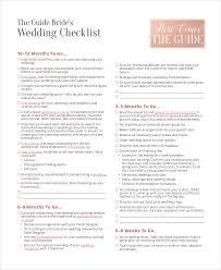 Wedding Brides Checklist In PDF