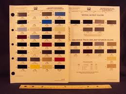 100 Truck Colors 1990 90 DODGE TRUCK JEEP COMMERCIAL Paint Chip Page