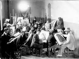 File Bezalel drawing class under direction of Abel Pann 1912