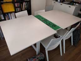 Drafting Table Ikea Canada by We Made A Concealed Puzzle Table From The Ikea Norden Table To
