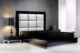 Black Leather Headboard With Diamonds by Fresh Diy King Platform Bed With Leather Headboard 9164