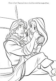 Rapunzel Printable Coloring Pages Disney Tangled