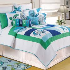 Meridian Waters Ocean Themed Patchwork Quilt Bedding
