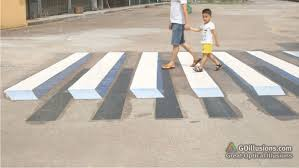 This 3D Crosswalk Uses An Optical Illusion To Slow Drivers