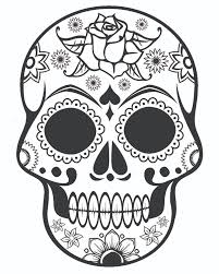 Fancy Skull Coloring Pages For Adults Printable Halloween