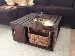 Impressive Wooden Crate Coffee Table Stains Diy And Crafts Crates Within Wood Modern