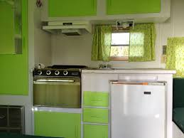 The Previous Owners A Retired Couple Named Ethel And Dave Had Upgraded All Trailers Systems Painted Interior Crisp White Apple Green