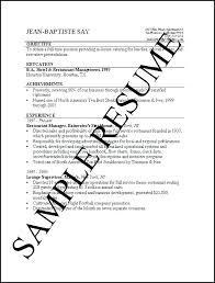 Examples Of Simple Resumes Impressive Sample Resume