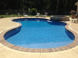 Inground Pool Liners As Fresh Outside Concept Attractive Shape Of Swimming Finished With Payer