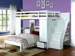 papier peint chambre ado lit 2 places en hauteur superpose deux supacrieur papier peint
