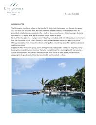 100 Christopher Hotel St Barth On The Island Of By Direct Travel Issuu