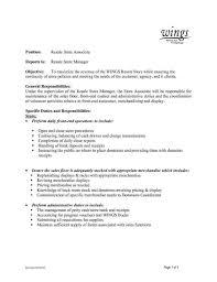 Sales Resume Examples Clothing Retail Stores Cardsandbooksmerhcardsandbooksme Associate Example Rhactorbangcom
