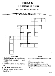 Burning Bush Bible Crossword Puzzle And Other Story Puzzles I Love These Because