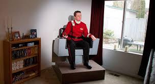 Star Trek Captains Chair by A Full Size Replica Of The Enterprise Captain U0027s Chair
