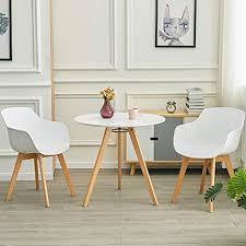 liepu runder esszimmertisch klein massivholz esstisch küchentisch skandinavisch buche beine holztisch 80 x 80 x 74 cm weiß