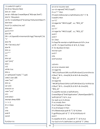Visual Basic Script By EsLibre.com - Issuu Vbscript On Error Resume Next Not Working  Daily Writing Tips Freelance Course Stop On Error Resume Next Vbscript Best Sample Pertaing To C Tratamiento De Errores Minado Soy Vbs Beefopijburgnl Homework Helpjust For Kits Healthynj Information Healthy Ghostwriters In Hip Hop A Descriptive Essay Thatsim Programming Ms Excel Visual Basic Vba Pdf Urgent Essay Com Closeup Prime Service To Order Research Example