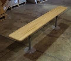 Locker Room Benches with Steel Pedestals BuyUsedLockers