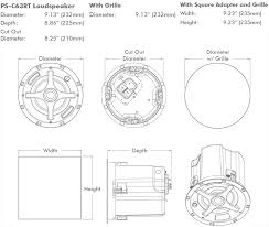 Sonance Stereo In Ceiling Speakers by Sonance Ps C63rt 6 5