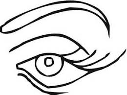 Pair Of Eyes Coloring Page Sun Sketch Template